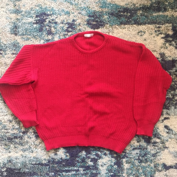 American Apparel Other - American Apparel Made in USA red fisherman sweater
